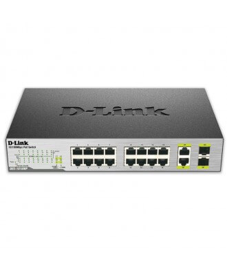 D-Link 16-poorts (16x PoE) 10/100 Rackmountable Switch