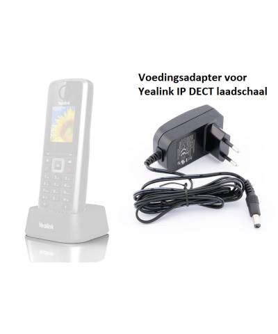 Yealink IP DECT voedingsadapter voor laadschaal (W52H en W53H)