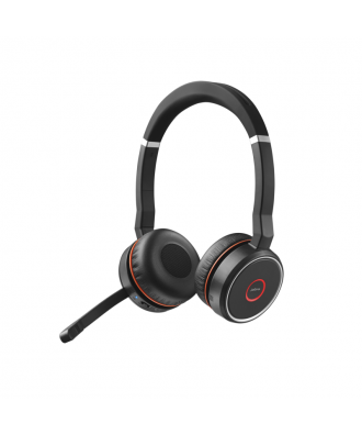 Jabra Evolve 75 MS STEREO Bluetooth draadloze headset (incl. stand)