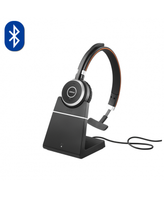 Jabra Evolve 65 MS MONO Bluetooth draadloze headset (incl. stand)