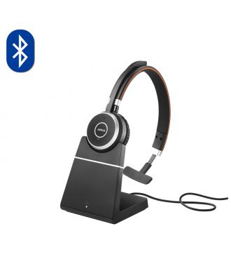Jabra Evolve 65 UC MONO Bluetooth draadloze headset (incl. stand)