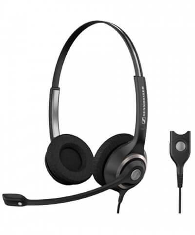 Sennheiser SC260 STEREO QuickDisconnect bedrade headset