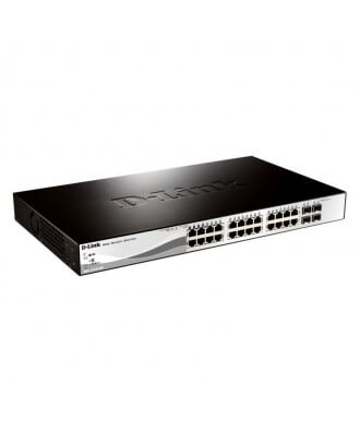 D-Link 24-poorts (24x PoE) 10/100 Rackmountable Switch
