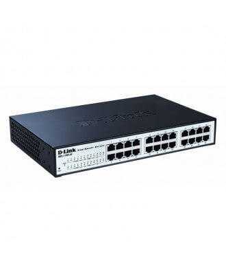 D-Link 24-poorts (12x PoE) Gigabit Rackmountable Switch