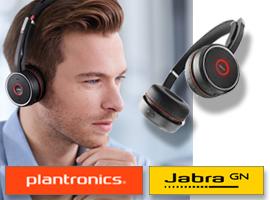 Headsets van Jabra en Plantronics